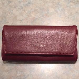 Matt & Nat burgundy wallet